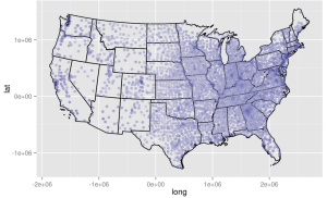 Mapping Data Across The US Open Science Café - Us longitude latitude map